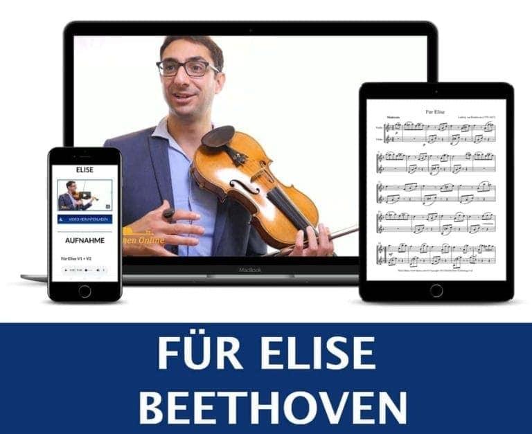 Für Elise Geige lernen