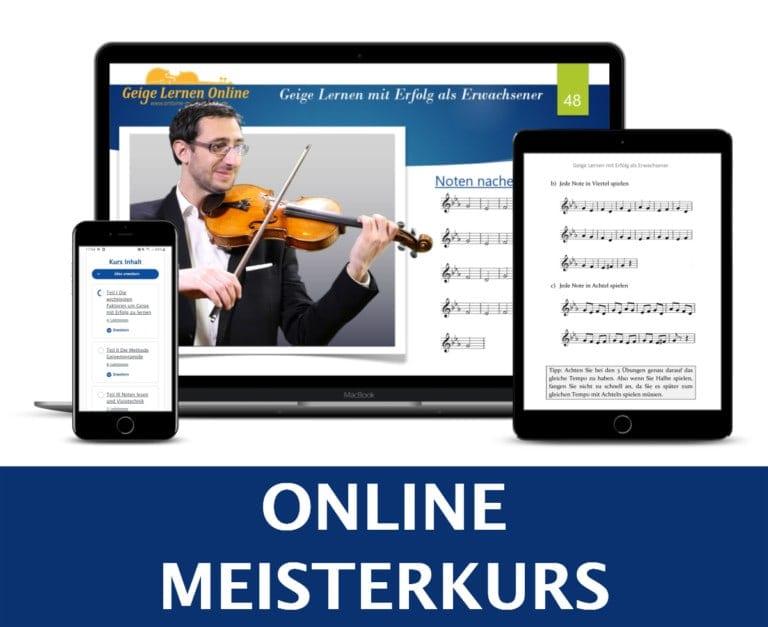 Meisterkurs Geige Online lernen