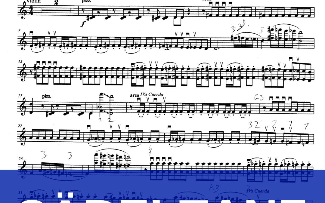 Säbeltanz von Katschaturjan: beobachte mich beim Üben + Noten