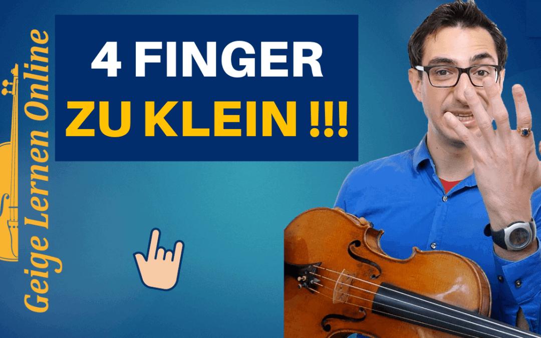 Wie du mühelos die Töne auf der Geige mit deinem 4. Finger treffen kannst