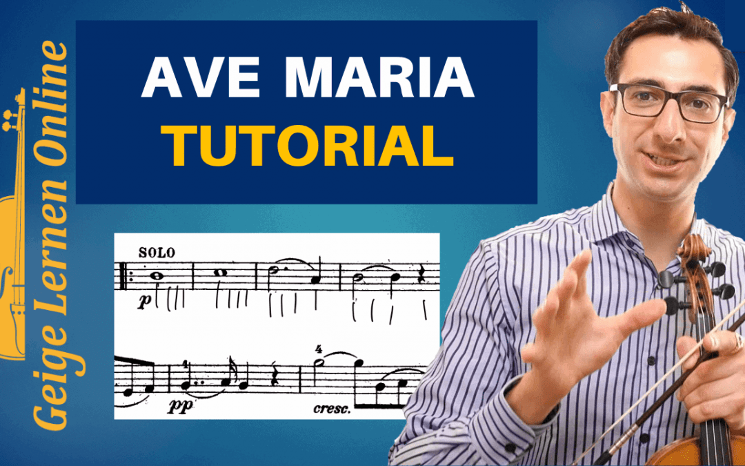 Bach/Gounod Ave Maria Schritt-für-Schritt-Tutorial (in 5 Schritten)