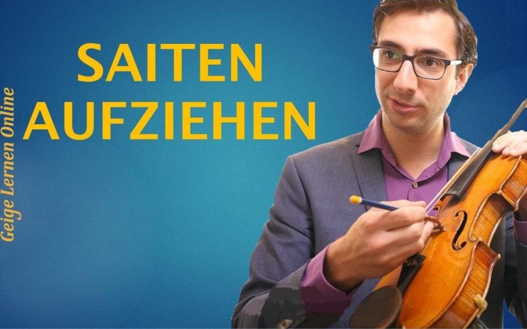 Wie kann ich neue Saiten auf meiner Geige aufziehen? (beste Saiten)