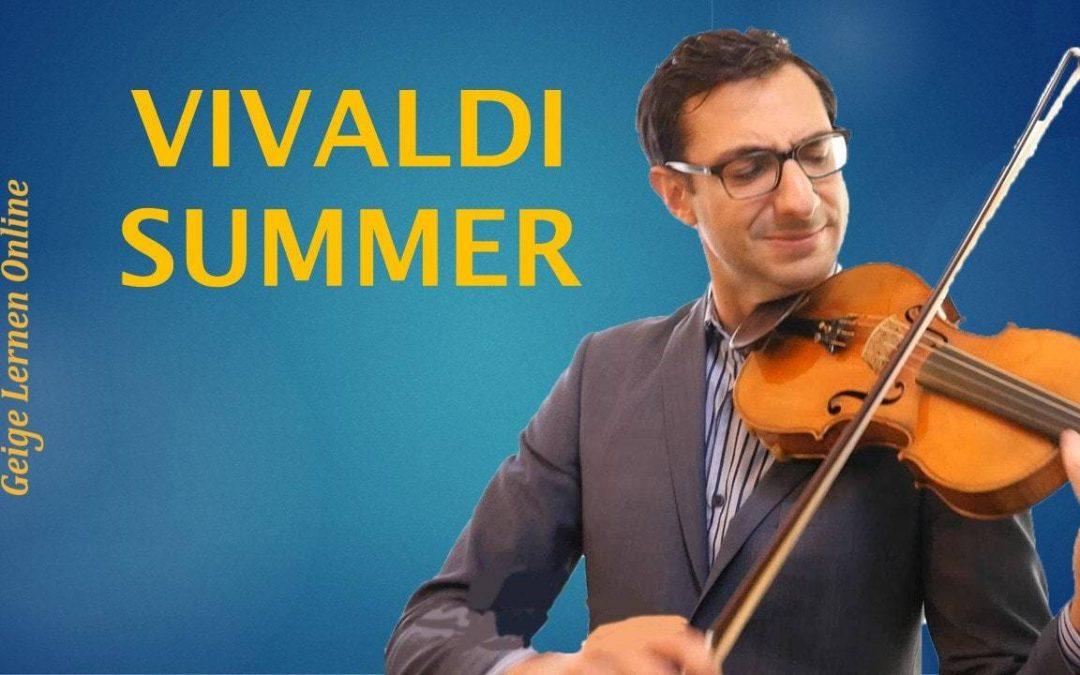 Beobachte mich beim Üben: Vivaldi's Summer (Geige Solo)