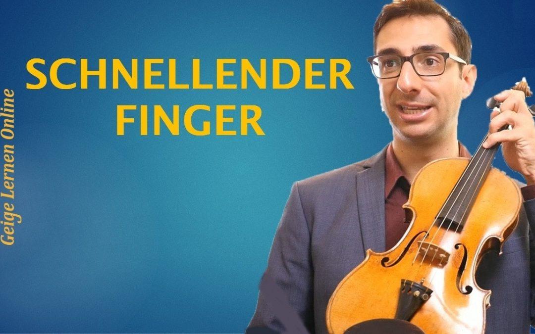 Geige: Schnappfinger / Schnellender Finger heilen (für immer!)