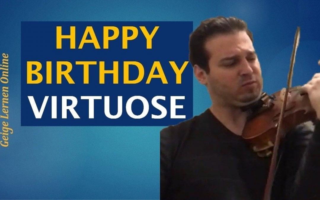 """Virtuoses Arrangement von """"Happy Birthday"""" (das musst du dir anhören!)"""