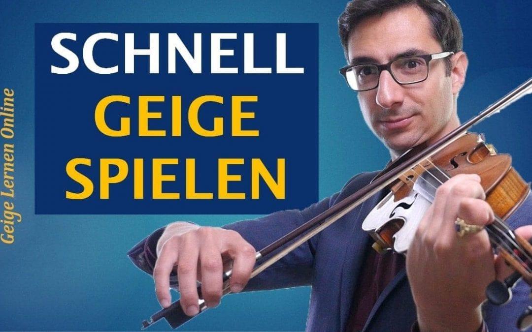 Der wichtigste Faktor, um an der Geige (richtig!) schnell zu spielen