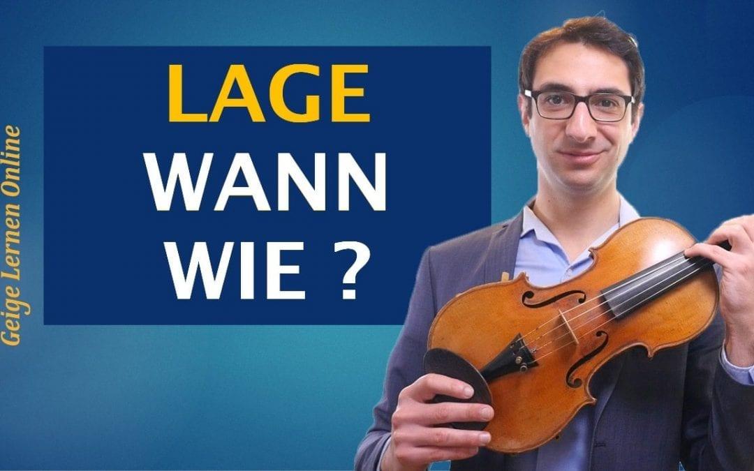 WANN und WIE sollte ich andere Lagen auf der Geige lernen? (2. 3. 4. Lage)