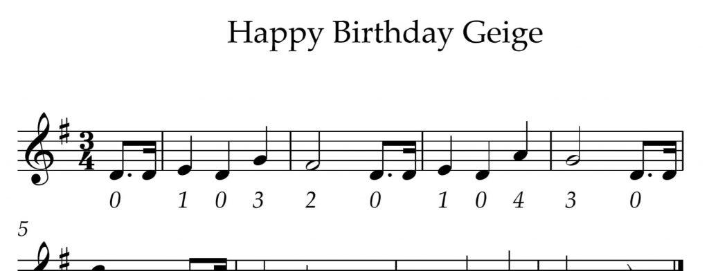 Happy Birthday Noten