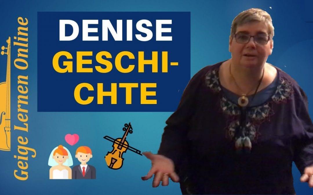 Geige lernen als Erwachsener Denise' Geschichte