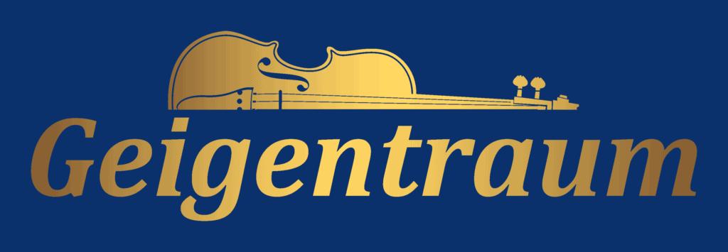 Geigentraum Logo gold Blau