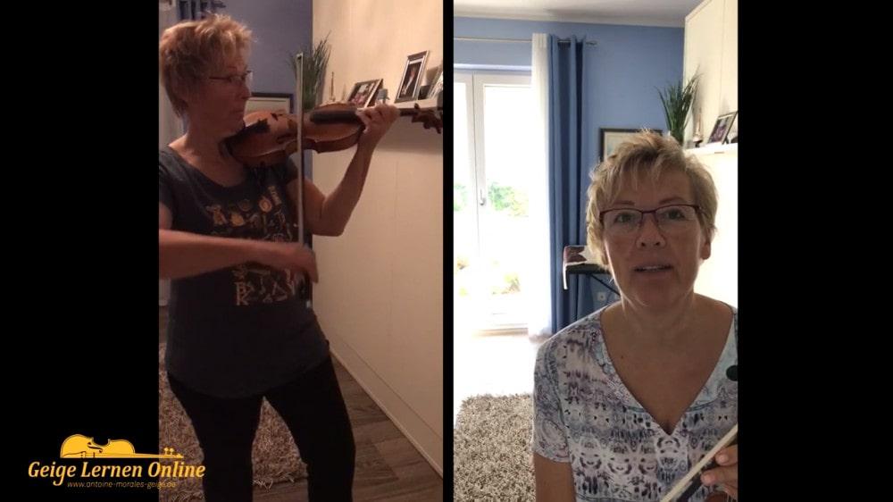 Anette Geschichte mit der Geige
