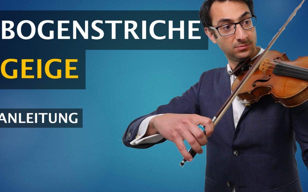 Diese Bogenstriche für die Geige musst du unbedingt kennen:
